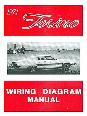 1971  71     Ford Torino  Wiring Diagram  Manual