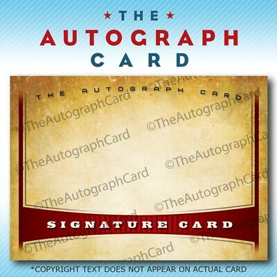 """The Autograph Card Blank Signature cards 25 """"non-sport"""""""