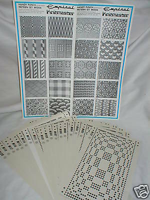 Pre Printed Pattern Sets Knitmaster Knitting Machine 1- K52.M1006