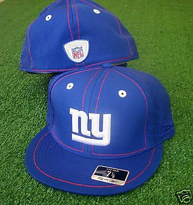 New York Giants hat cap NFL Reebok Fitted 7 Conflict