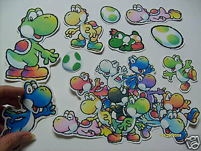 Super Mario Sticker Lot Big Stickers All Yoshi Only