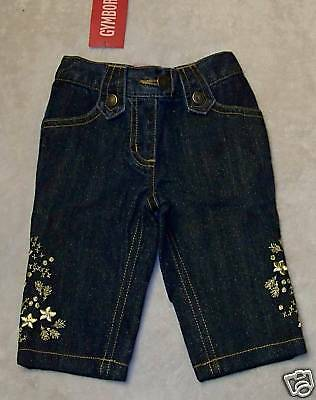NWT Gymboree MOUNTAIN CABIN Gold Glitter BLUE JEANS 3-6