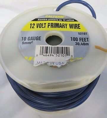 Calterm 12 Volt Primary Wire 10 Gauge 100Ft. 52101