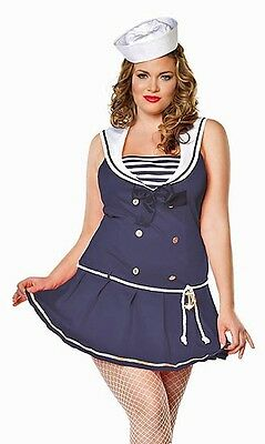Shipmate Cutie Sailor Costume, Leg Avenue 83272X, 2 Piece, Plus Size 1X/2X 3X/4X