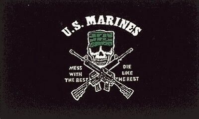 3'x5' Marines Corps Flag Mess With The Best Die Like The Rest USMC Semper Fi 3x5