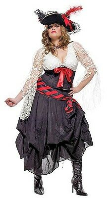 Pirate Captain's Mate Costume, Leg Avenue 83197X, Adult 3 Piece, Plus Size 1X/2X