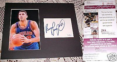 Cavs UNC Brad Daugherty Signed Matted INDEX CARD JSA