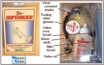 Silver Trumpet Care Kit: snake oils cloth brushes *NEW*