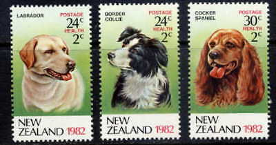 New Zealand 1982 Domestic Dogs Set Mint Complete!