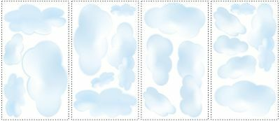 CLOUDS BLUE 19 BIG Wall STICKERS Room Decor Nursery Decoration Decals Sky NEW