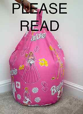 Childrens Character Barbie Beanbag Cover Only Kids Bean Bag Beenie Bedroom