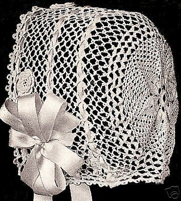 Vintage Antique Crochet PATTERN to make Baby Hat Bonnet Irish ColumbiaBabyIrish
