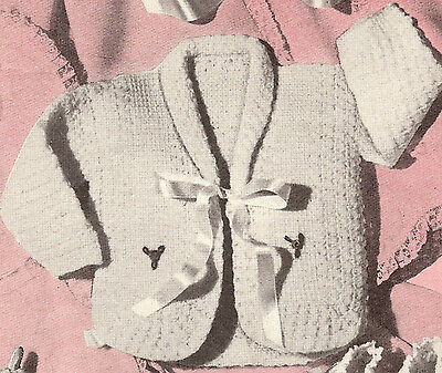 Vintage Crochet PATTERN to make Baby Sweater Sacque Jacket NWMCrochetSacque