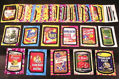 2008 Wacky Packages Flashback Series 1 COMPLETE BASE SET of 72 stickers nm+
