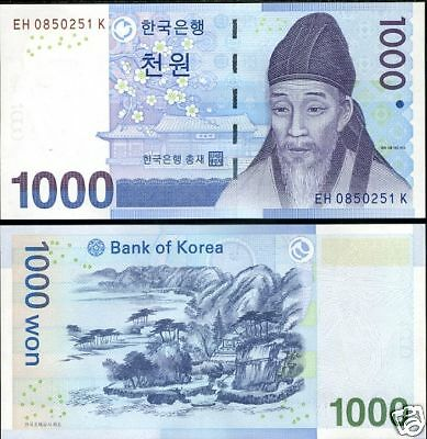 SOUTH KOREA Coree du SUD Billet 1000 WON 2007 UNC NEUF