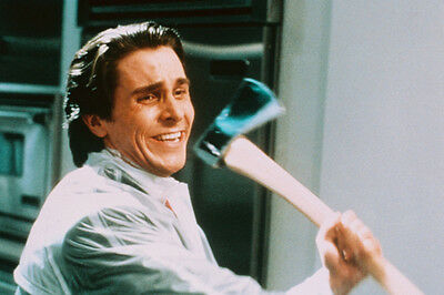Christian Bale American Psycho Color 24X36 Poster Print Swinging Axe