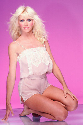 Suzanne Somers Harry Langdon Glamour Pose Color Poster