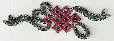 Chinese Bow Symbol Pattern Embroidery Applique Patch