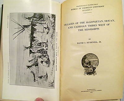 Villages Of The Algonquian,Siouan & Caddoan Tribes 1922