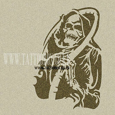 Reusable airbrush stencils templates  - SKULL (Large size)