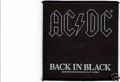 Ac/dc Back In Black Woven Patch !
