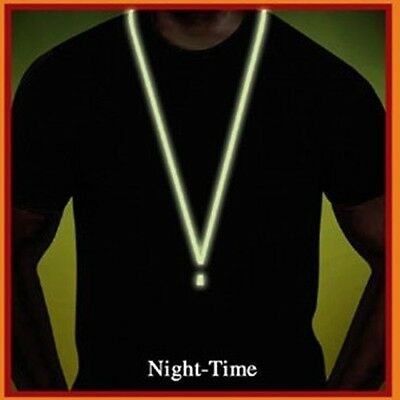 LOT of 25 GLOW-in-the-DARK Neck Lanyard~Detachable End