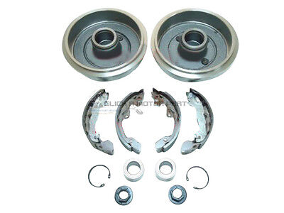 Ford Focus Mk1 Rear 2 Brake Drums Shoes Set 2 Wheel Bearings & 2 Cylinders New