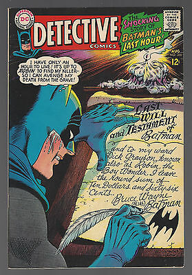 DETECTIVE COMICS #366 1967 VF- BATMAN Round-Robin Death Threats ELONGATED MAN