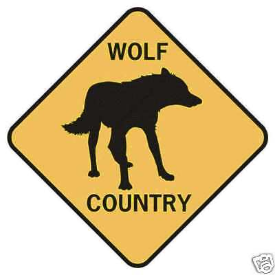 WOLF COUNTRY Xing Style Aluminum Sign