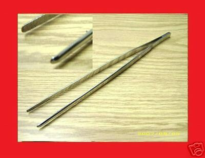 "New Thumb Dressing Forceps 12"" Tweezers Serrated"
