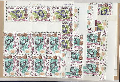FOOTBALL DOMINICA 1966 WORLD CUP UM...128 sets..cv £140