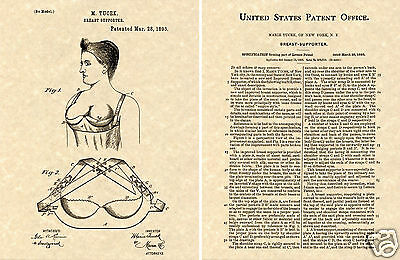 Tucek BRA US Patent Art Print READY TO FRAME 1893 breast classic Phelps