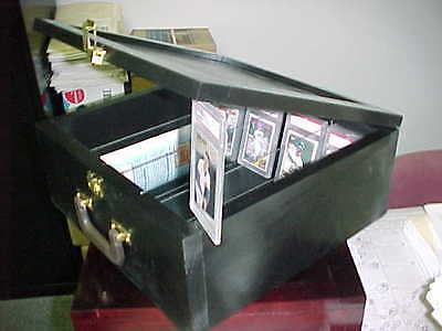 Baseball card storage case for  Graded & UNGRADED Black Hockey