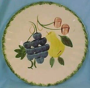 Vintage FRUIT FANTASY DINNER PLATE Blue Ridge Southern