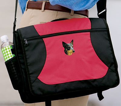 AUSTRALIAN CATTLE  DOG embroidered messenger bag