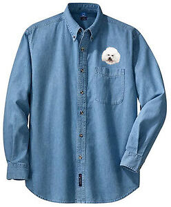 BICHON FRISE embroidered denim shirt XS-XL