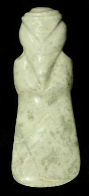 PRE-COLUMBIAN FINE JADE AXE GOD Gorgeous & Perfect