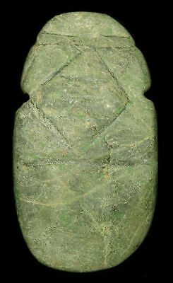 Great Pre-Columbian Jade Axe God Drilled For Suspension