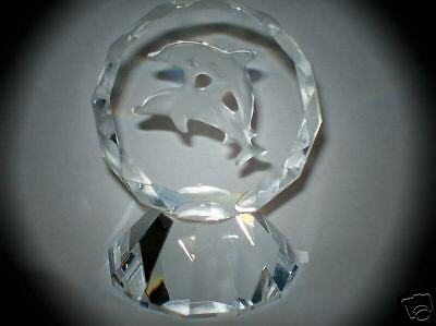 Kensington Crystal Dolphins Paperweight