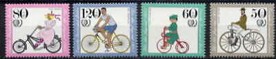 Germany 1985 Bicycles - Cycling Set Of 4 Mint Complete!