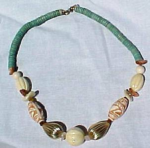 Vintage Reproduction AFRICAN BEAD NECKLACE Must See