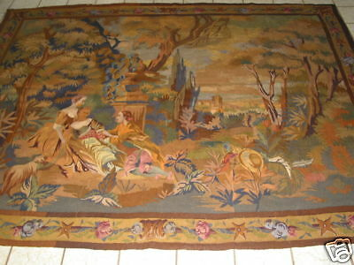 Antique French Aubusson Hand Made Tapestry B-7461