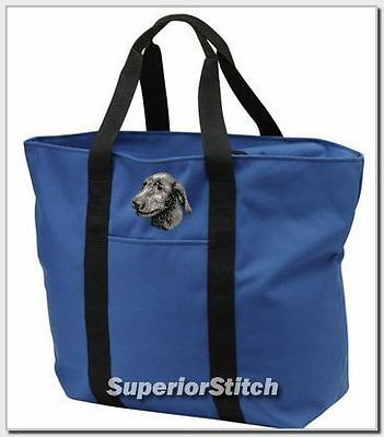 IRISH WOLFHOUND embroidered tote bag ANY COLOR