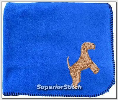 LAKELAND TERRIER embroidered blanket ANY COLOR