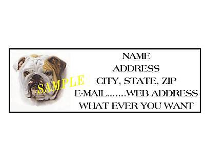 Bulldog Address Labels Cool!!! #2