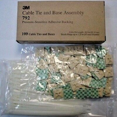3m Cable Tie And Mounting Base Assembly #792 100pcs.