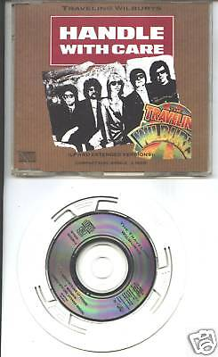 "traveling wilburys - handle with care   3""  cd  dylan"