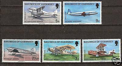 Guernsey # 81-5 Mnh Airplanes