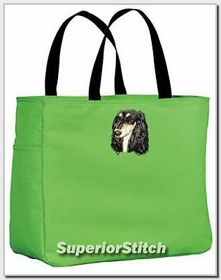 SALUKI embroidered essential tote bag ANY COLOR