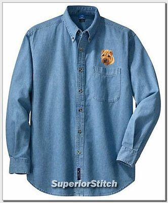 SHAR PEI embroidered denim shirt XS-XL